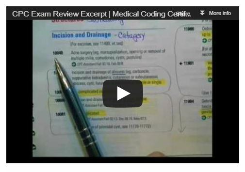 Cpc exam practice test questions and answers for medical coder cpc exam review video fandeluxe Images